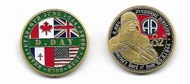 D Day Army 82nd Airborne Division June 6 1944 Challenge Coin - $13.53