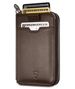 Vaultskin NOTTING HILL Slim Zip Wallet with RFID Protection for Cards Ca... - $37.53