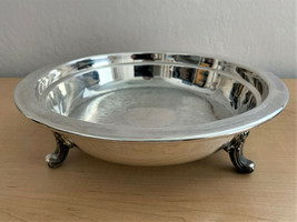 Vintage Large Silver Plated Tri-Footed Bowl Centerpiece Dated 1952 - $84.15