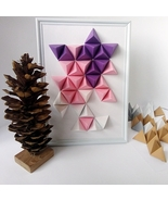 Handmade 3D paper decoration geometric wall art unique paper abstract home decor - £34.41 GBP