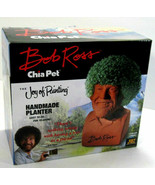 Chia Pet Bob Ross The Joy of Painting Decorative Pottery Planter  - $18.80