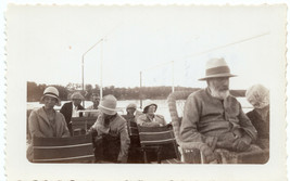 """SNAPSHOT OF """"BROWN CLAN BOAT TRIP"""" A FAMILY SEATED ON A BOAT - $6.99"""