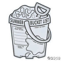 "Color Your Own ""My Summer Bucket List"" Posters - $11.61"