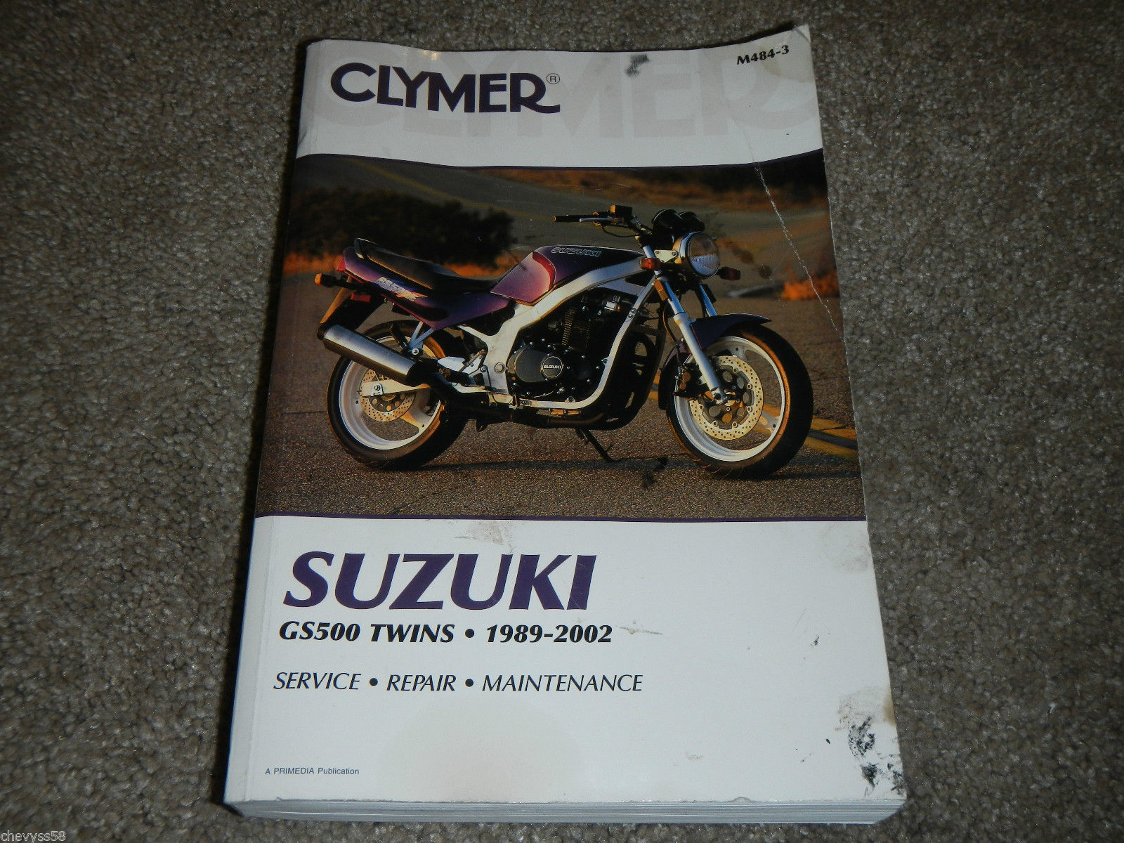 1989-2002 SUZUKI GS500E GS 500 TWIN CLYMER MOTORCYCLE SHOP SERVICE REPAIR  MANUAL
