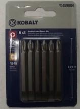 Kobalt 1873540 6-Pack #2 Phillips #8 Slotted Power Screw Bits 0459004 - $2.97