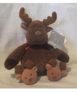 """Glitterware Soft Dreams Plush Baby Reindeer Wearing Reindeer Slippers 8""""... - $20.48"""