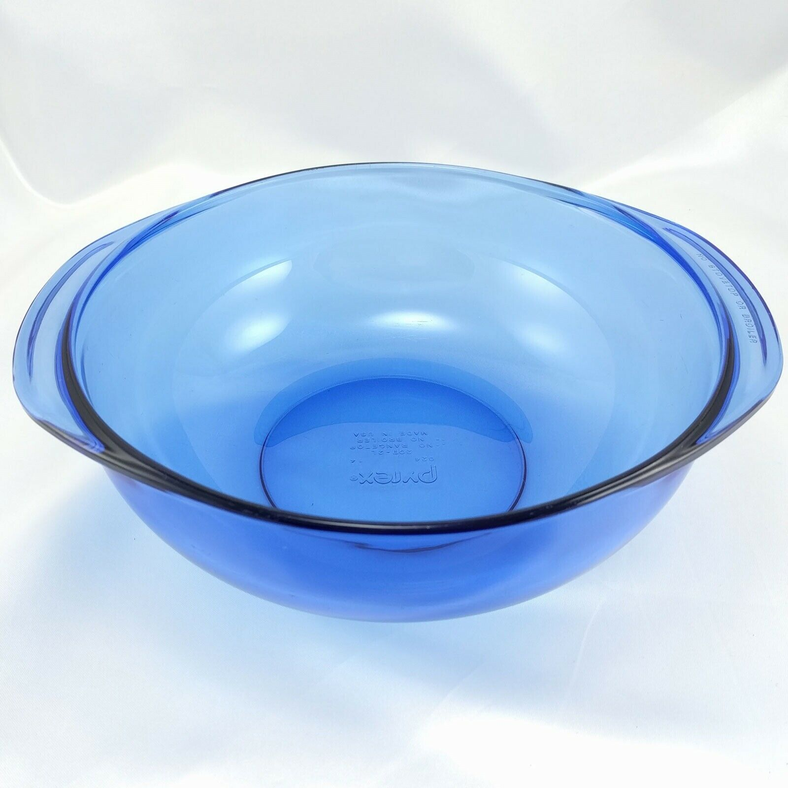 Pyrex 024 Cobalt Blue Bowl 2 qt Serving Casserole w/ 024C Lid Made in the USA image 4
