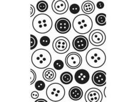Darice Buttons Embossing Folder image 1