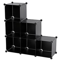 SONGMICS 3-Tier DIY Storage Cube Organizer Plas... - $34.49