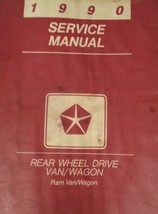 1990 Dodge Ram Van Wagon Rear Wheel Drive Service Shop Repair Workshop M... - $33.61