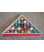 Set of 15 BILLIARDS Pool Balls Blown Glass Ornaments NIB  - $19.99