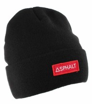 Asphalt Yacht Club AYC1410900 OG Cuff Beanie Black With Red Embroidered ... - £9.09 GBP