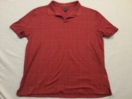 M107 VAN HEUSEN Red Striped Polo T Shirt MEN'S Large L - $14.80