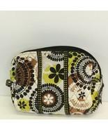 Vera Bradley Makeup Organizer in Retired Cocoa Moss Pattern Bag Tote Zip - $19.75