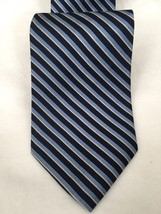 Brooks Brothers 346 100% Silk Tie Navy Stripe - $17.82