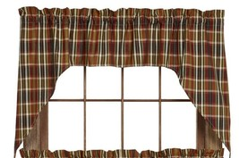 Olivia's Heartland country hunting cabin lodge Montana pattern Swags curtain set - $39.95