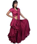 Wevez Jaipur Belly Dancers 25 Yard Cotton full Circle Skirt - Burgundy - $39.87
