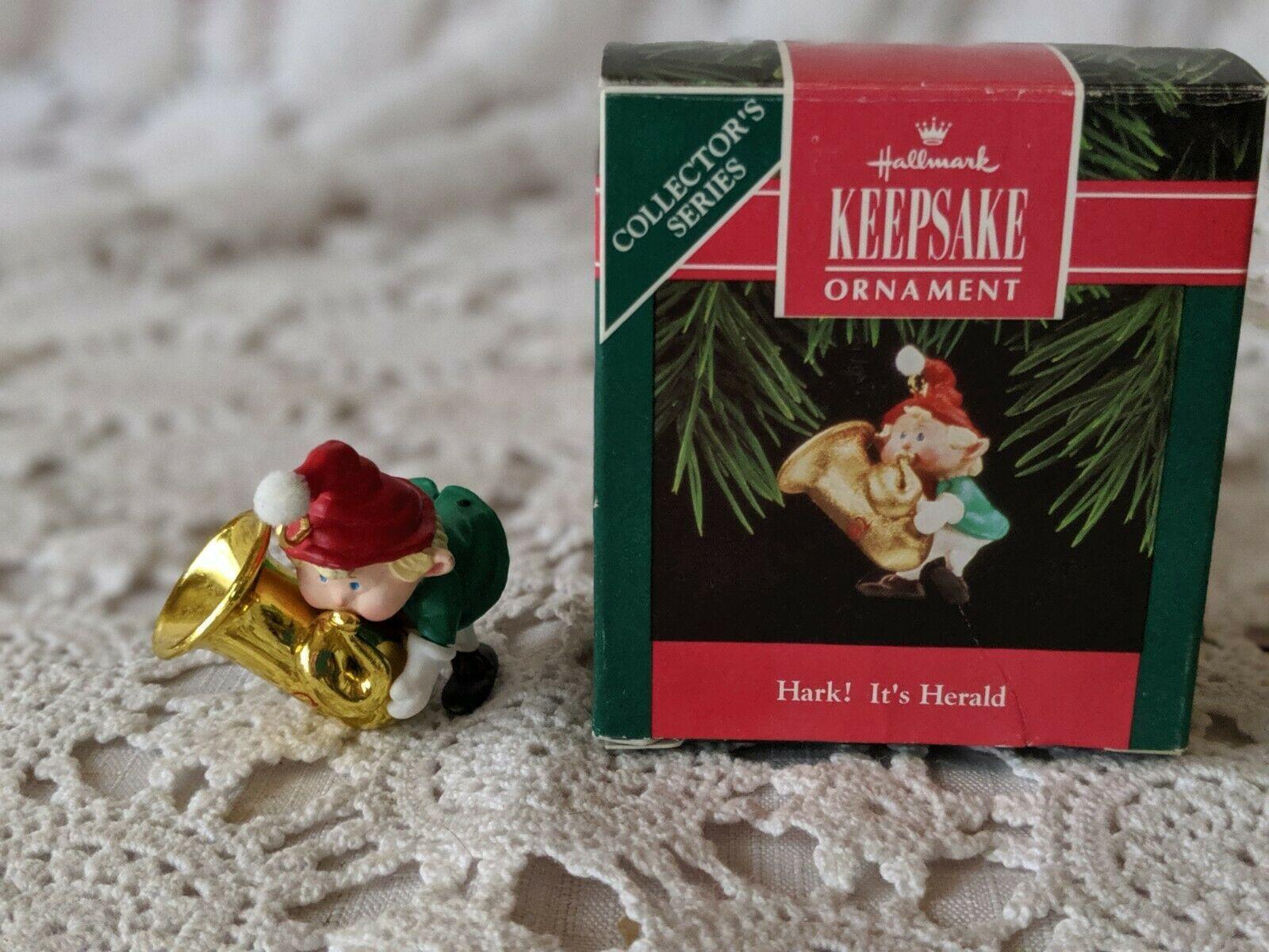 Hallmark Keepsake Hark It's Herald Christmas Ornament 1992