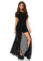 Sheer Black Maxi Dress by Leg Avenue™/Base for Costume/Sexy - $39.95