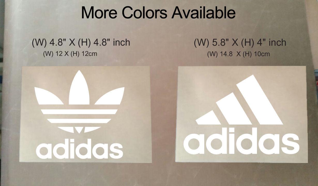 Ahuyentar Énfasis Húmedo  Iron On Adidas Logo Heat Transfer Heat Press DIY Clothing Transfer