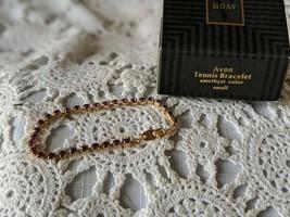 Avon Designer Signed Tennis Bracelet Amethyst Small - $8.72