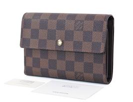 Authentic LOUIS VUITTON Damier Ebene Long Credit Card Wallet Coin Purse ... - $359.00
