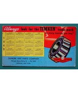 1949 INK BLOTTER AD - Timken Tapered Roller Bearings Dunkirk New York - $4.49