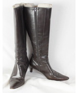 Ralph Lauren Boots 7.5 B size Brown Leather Casual Womens Shoes - $12.12