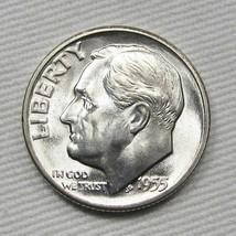 1955-S Roosevelt Dime GEM++ UNC Coin AD838 - $24.13