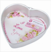 Wilton Deep Aluminum Heart Baking Pan, 9inx2in, good for 2 layer cakes - $10.99