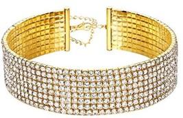 Clear Rhinestone Crystal Choker Necklace Wedding Collar Necklace Birthday - $1.454,88 MXN