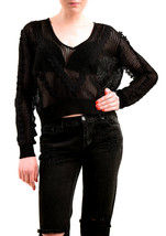 Wildfox Women's NBW Beach Cotton Knitted Sweater Black Size XS RRP $226 ... - $228.69