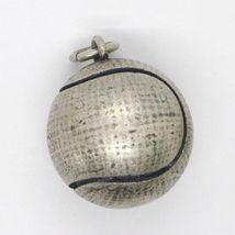 Silber Anhänger 925, Brüniert und Matt, Ball Tennis image 3
