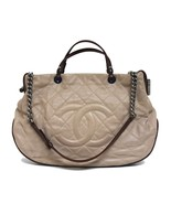 Chanel On The Road Grand Shopping Beige Leather Tote - $2,252.04