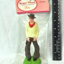 Cowboy Wilton Vintage Cake Topper Sugar Plum Party Favors Country Wester... - $12.55