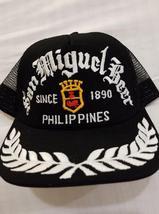 San Miguel Beer White Thread on a Black Mesh ball cap - $25.00
