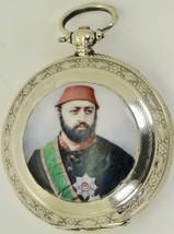 Antique silver & enamel hunter pocket watch for Ottoman market.Sultan Ab... - $1,990.00