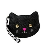 Betsey Johnson Logo Coin Purse Wallet Wristlet Pouch Woven Clutch Bag Ca... - $24.74