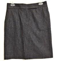 J. Crew Pencil Skirt Gray Pinstripe Size 2 Wool Blend - $29.69