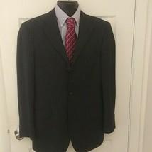 BILLY LONDON UK Mens black Blazer striped Jacket 38R  - $27.72