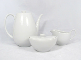 James Chatelaine Teapot Sugar Bowl Creamer China Set Snow White Bavaria ... - $81.67