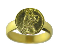 24K YELLOW GOLD PLATED Scooby Doo Dog Cartoon animated Ring Jewelry Pick... - $30.26