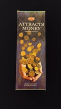 ATTRACTS MONEY 6 Boxes of 20 = 120 HEM Incense Sticks Bulk Case Retail D... - $20.00