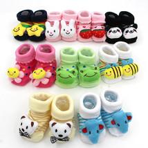 Cartoon Cute Baby Girl Boy Anti-slip Socks Slipper Socks Shoes Boots 0-1... - $3.10