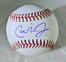 CAL RIPKEN JR / MLB HALL OF FAME / AUTOGRAPHED OML BASEBALL IN CUBE / TRISTAR image 1