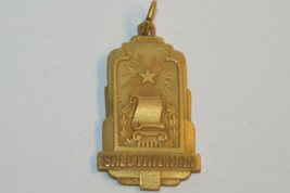 VINTAGE SCHOOL SALUTATORIAN PENDANT GOLD TONE 30mm Long - £19.79 GBP