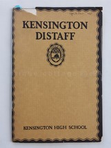 1925 SPRING antique KENSINGTON pa GIRLS HIGH SCHOOL DISTAFF BOOK poetry ... - $38.95