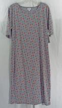 Womens LuLaRoe Dress Julia XL Grey Blue Yellow Red Triangles NWT - $44.59