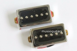 N&B 1set lp guitar pickups Chrome humbucker guitar pickups with iIvory p... - $20.78