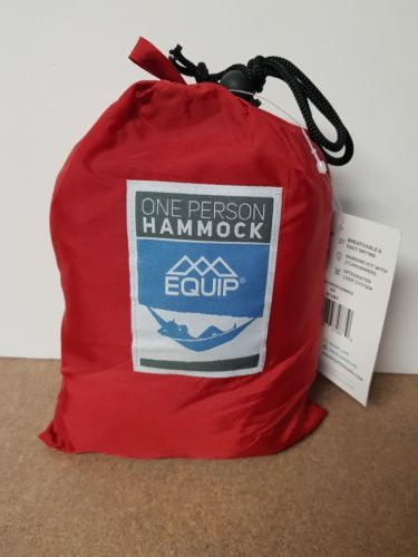 Equip ONE PERSON RED Travel 1.2 lb. Hammock 400 lb. Weight Capacity NEW